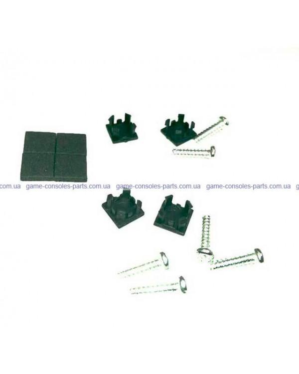 Комплект болтиков для корпуса PS2 Slim + комплект заглушек и резиновых ножек