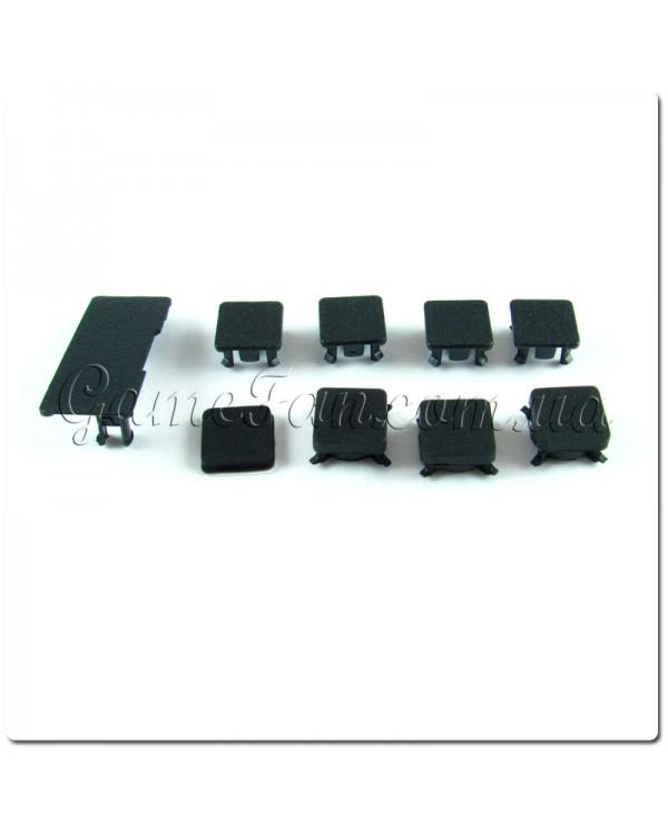 Комплект заглушек и резиновых ножек PS 3 Slim ( 9 штук )