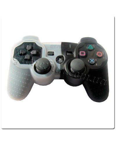 Силиконовый чехол для джойстика PS 3(black/white)