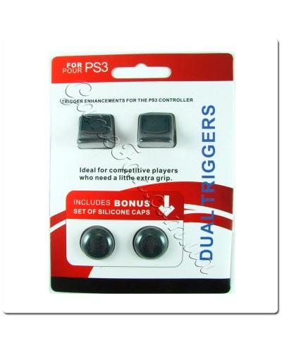 2 накладки на триггеры PS3+Бонус силиконовые накладки на ручки аналогов PS3