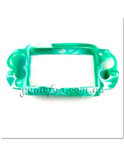 Силиконовый чехол для PS Vita (Камуфляж)(Green-white)
