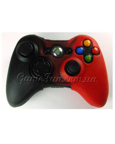 Xbox 360 силиконовый чехол для джойстика (black/red)