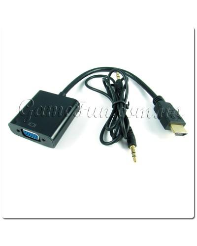 Кабель-переходник HDMI TO VGA + аудио выход