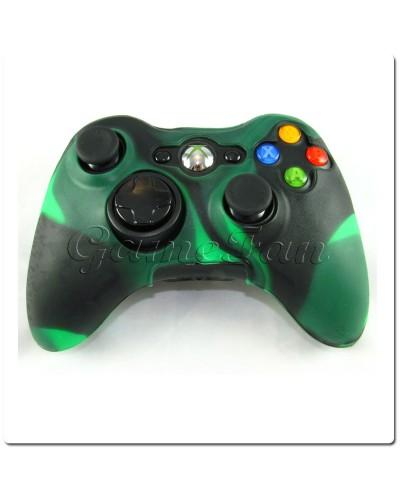 Силиконовый чехол для джойстика Xbox 360 (камуфляж)(Green-black)