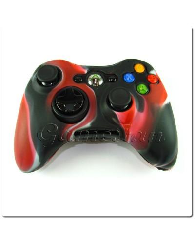 Силиконовый чехол для джойстика Xbox 360 (камуфляж)(Red-black)