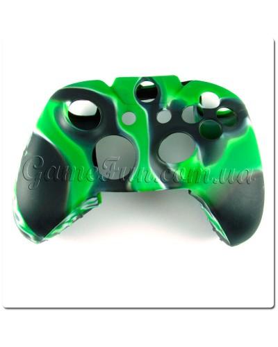 Силиконовый чехол для джойстика Xbox ONE (камуфляж)(Green-black)