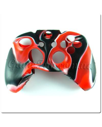 Силиконовый чехол для джойстика Xbox ONE (камуфляж)(Red-black)